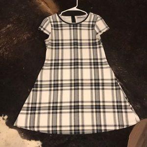 Black and white plaid print dress size medium